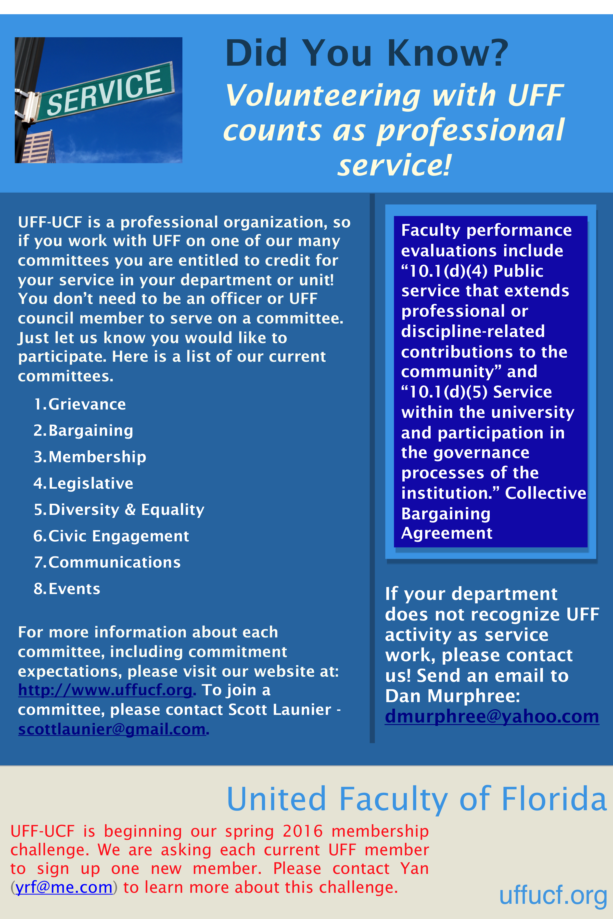 committees united faculty of florida university of central the