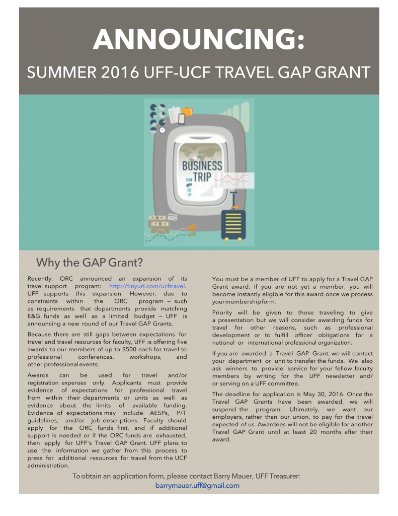 Travel Gap Grant Poster - Summer 2016