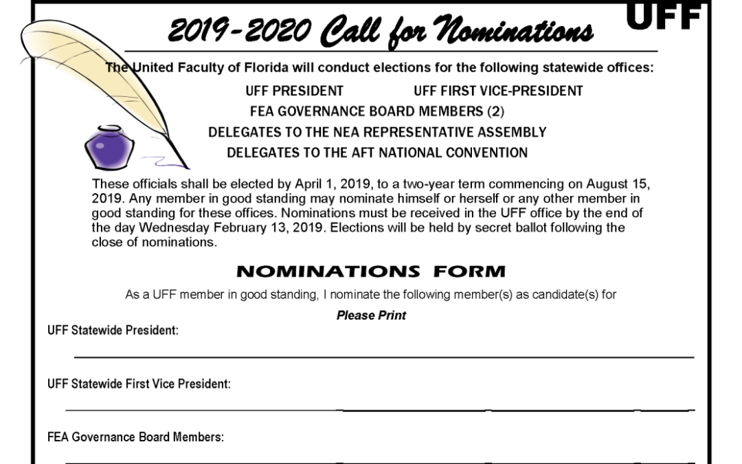 UFF Nominations due Feb 13!